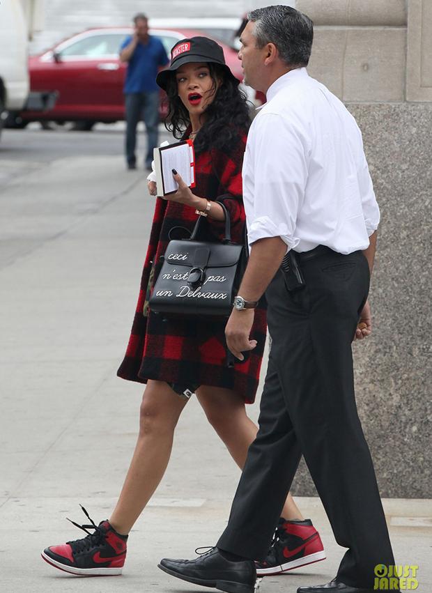 "Rihanna in the Air Jordan 1 ""Banned"""