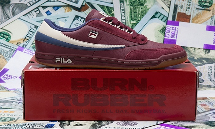 Burn Rubber x FILA Tennis Low Doughboy Another Look