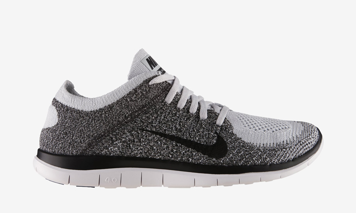 Nike Flyknit Libre 4 Hommes Blancs Gris
