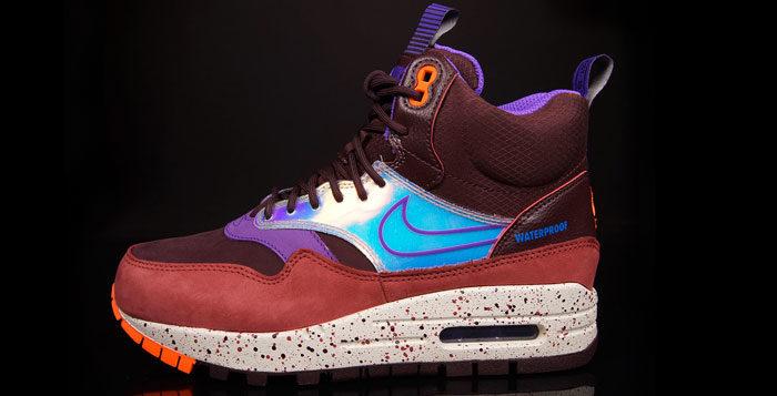 Nike Wmns Air Max 1 Mid Sneakerboot Deep Burgundy Hyper Grape Nice Kicks