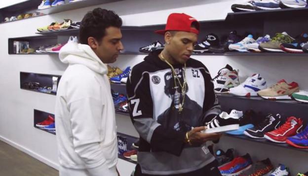 Joe La Puma Goes Sneaker Shopping with Chris Brown