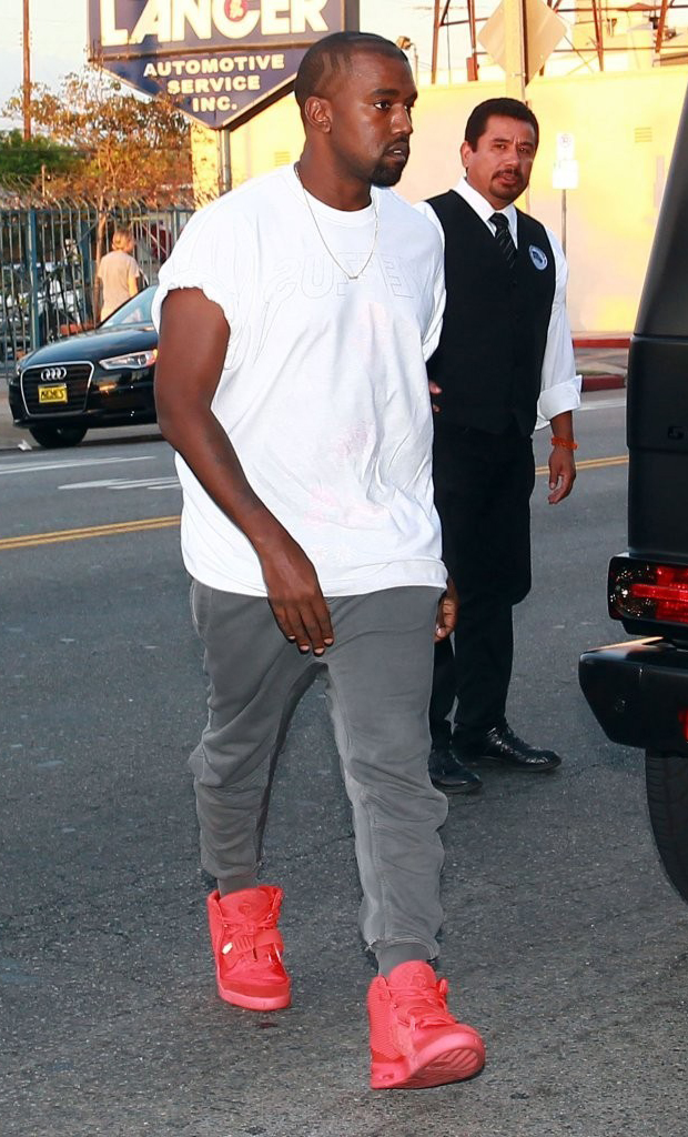 """Kanye West in the Nike Air Yeezy 2 """"Red October"""""""