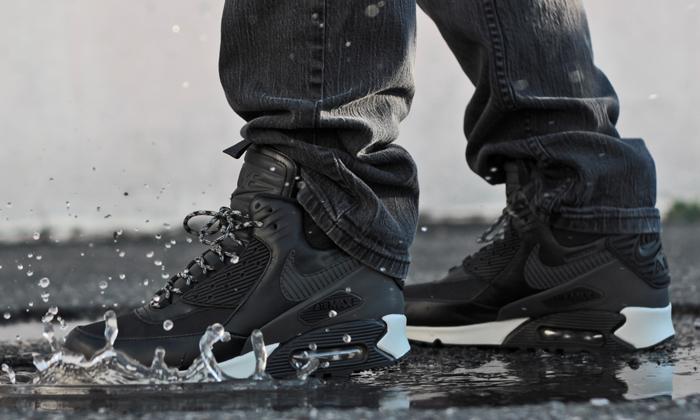 nike air max 90 winterized sneakerboot black magnet grey