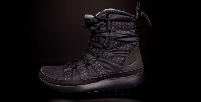 quality design a2853 e8e98 ... nike wmns roshe run hi sneakerboot black nice kicks . ...