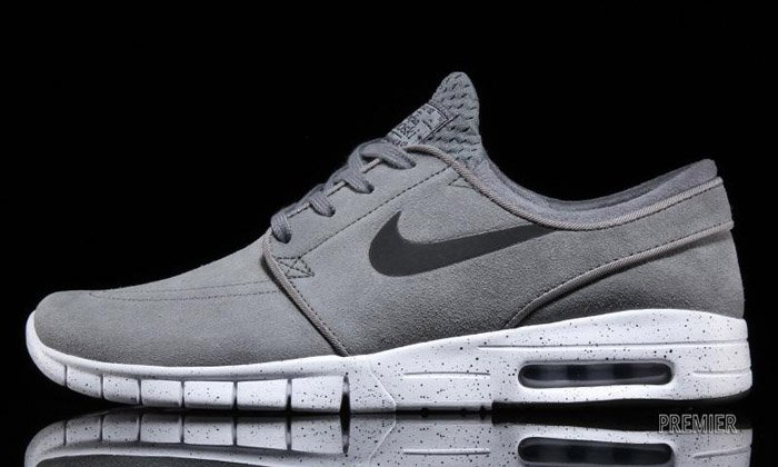 Nike Sb Stefan Janoski Max Leather Quot Cool Grey Quot Nice Kicks