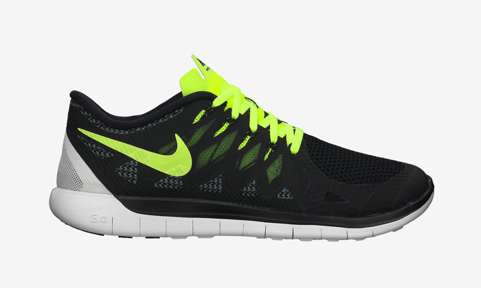 nike free 5.0 grey black volt
