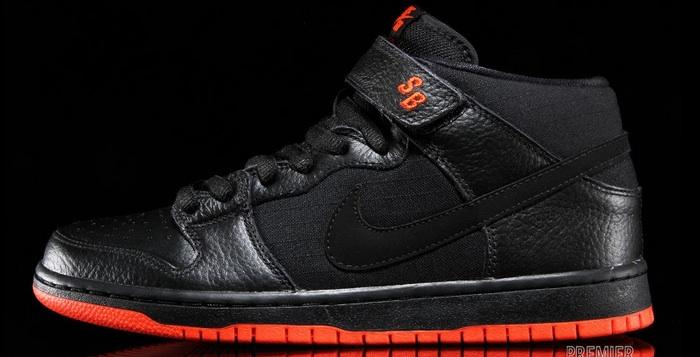 Nike SB Dunk Mid Black Team Orange