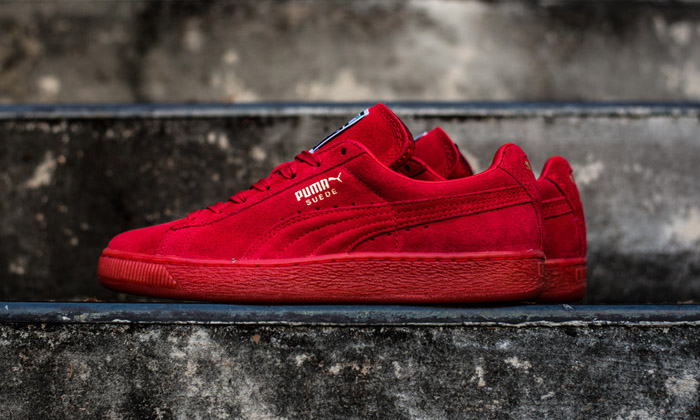 all red puma sneakers
