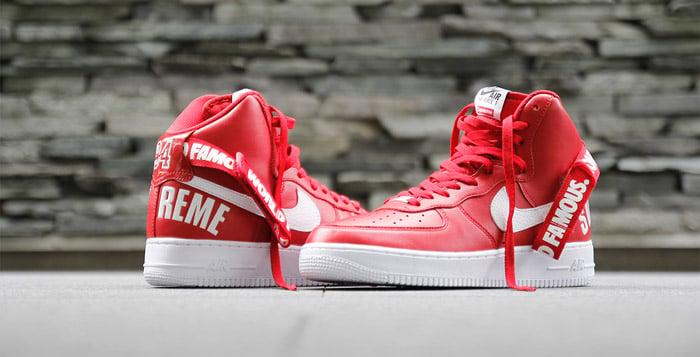 Supreme x Nike Air Force 1 High - Red