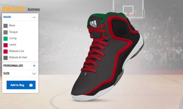 adidas derrick rose customize