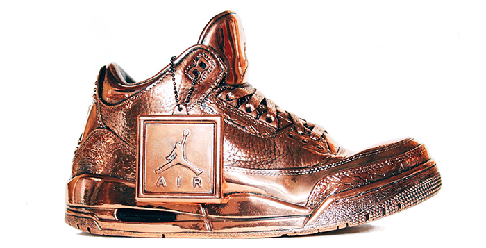 Bronze Air Jordan 3 by Matt Senna