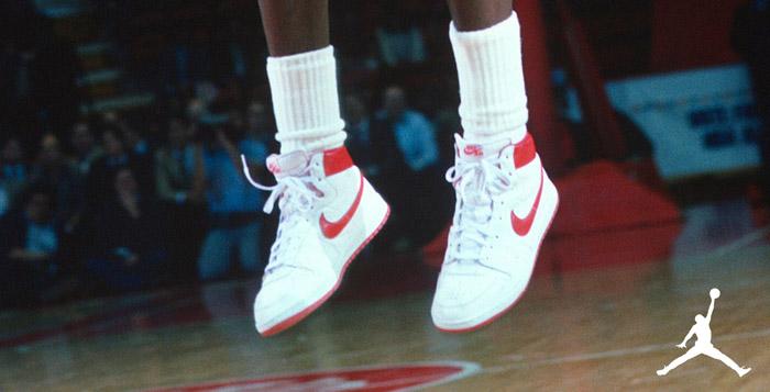 Michael Jordan wearing the Nike Air Ship