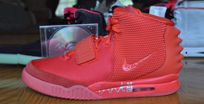Nike Air Yeezy 2 Red October Autographed by Kanye West