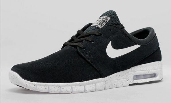 Nike SB Stefan Janoski Max Suede Black/White   Nice Kicks