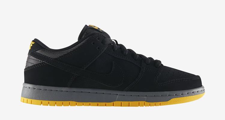 Nike SB Dunk Low Pro Black University Gold