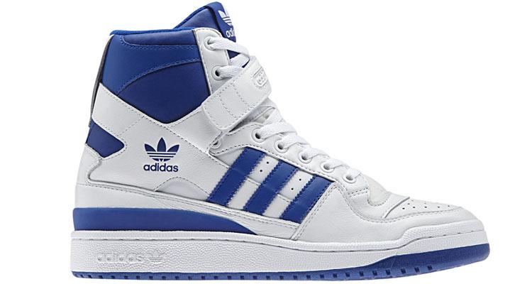 adidas forum hi white collegitate blue