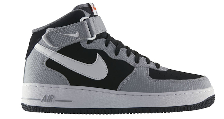 nike air force 1 mid blackwolf grey nice kicks
