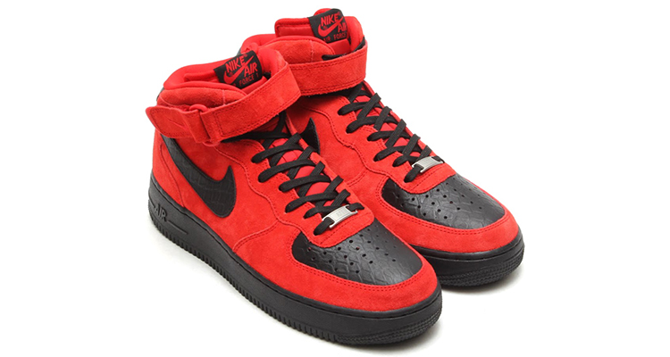 nike air force 1 mid red suede python for sell