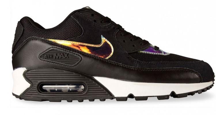 uk availability 212b6 c4482 ... Nike Air Max 90 Premium IridescentBlack Nice Kicks ...