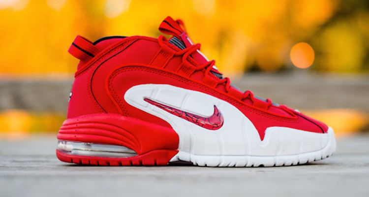 huge selection of 1b941 58933 nike air max penny university red white black leather