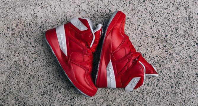 shoe gallery reebok pump red