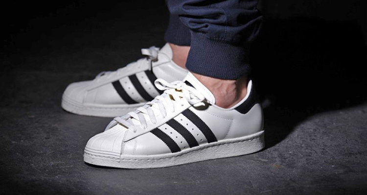 white and black superstar adidas