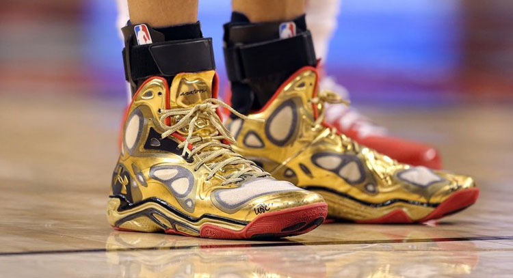 stephen curry gold shoes
