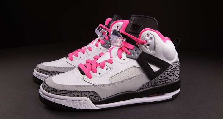 air jordan spizike black pink white nike