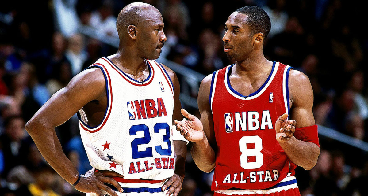 Kobe Bryant Playing in Air Jordans