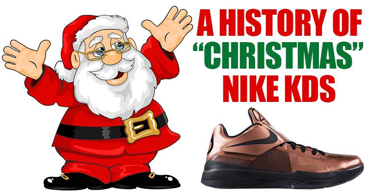 A History of Christmas Nike KDs