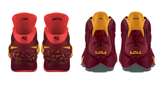 NikeiD I Can't Breathe KYRIE 1 LeBron 12
