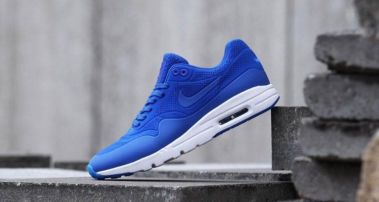 sports shoes 30780 bb9aa Nike Air Max 1 Womens Blue Black Grey White