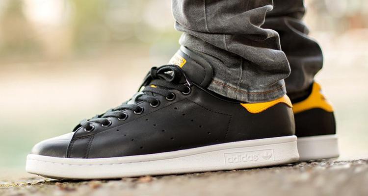 adidas stan smith yellow grey