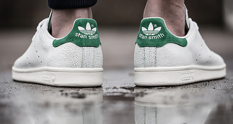 stan smith adidas cracked leather