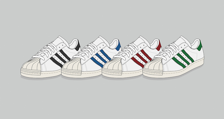 adidas Superstar 80s Print by KickPosters