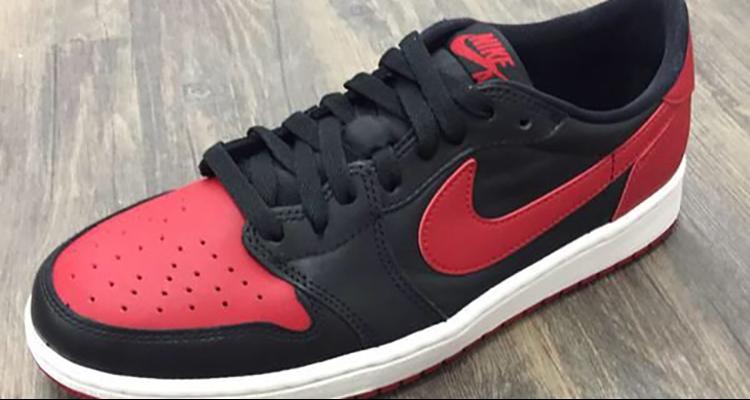 air jordan 1 retro low black red