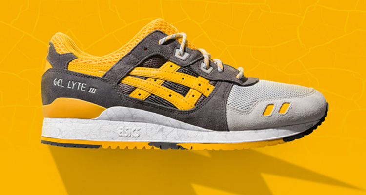 asics gel lyte iii black/yellow/grey