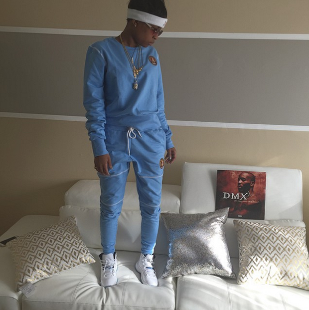 "DeJ Loaf in the Air Jordan 11 ""Legend Blue"""
