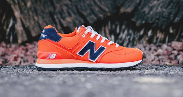 new balance bleu orange 574
