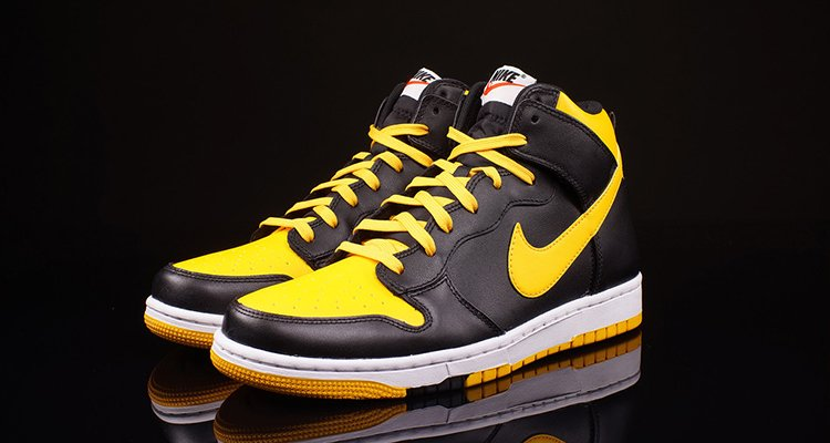 nike dunks black and yellow