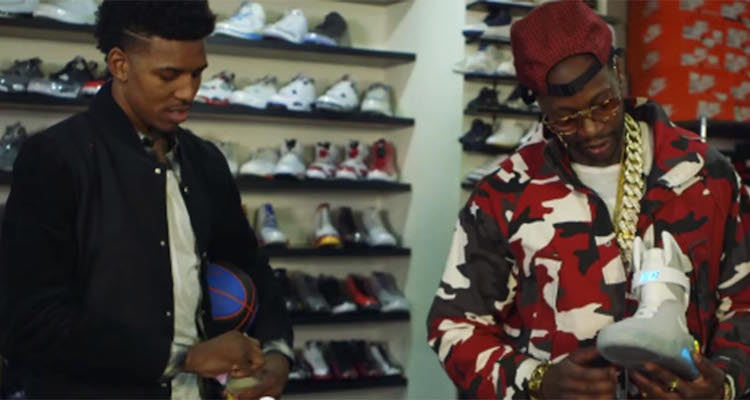 2 Chainz & Nick Young Go Sneaker Shopping at RIF LA