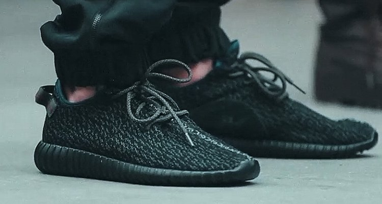 Kanye West x adidas Yeezy 350 Boost Low Black On-Foot Preview