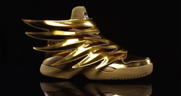 adidas jeremy scott wings 3.0 gold for sale