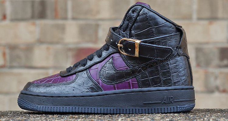Nike Air Force 1 High Queen Of Gator Custom By Jbf Customs