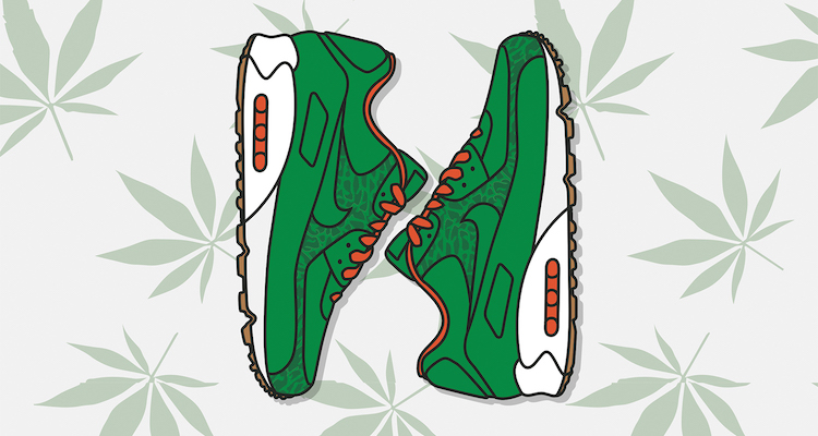 Nike Air Max 90 Homegrown 4/20 Edition Print by KickPosters