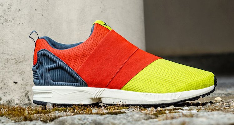 adidas ZX Flux Slip-On Solar Yellow/Red Available Now