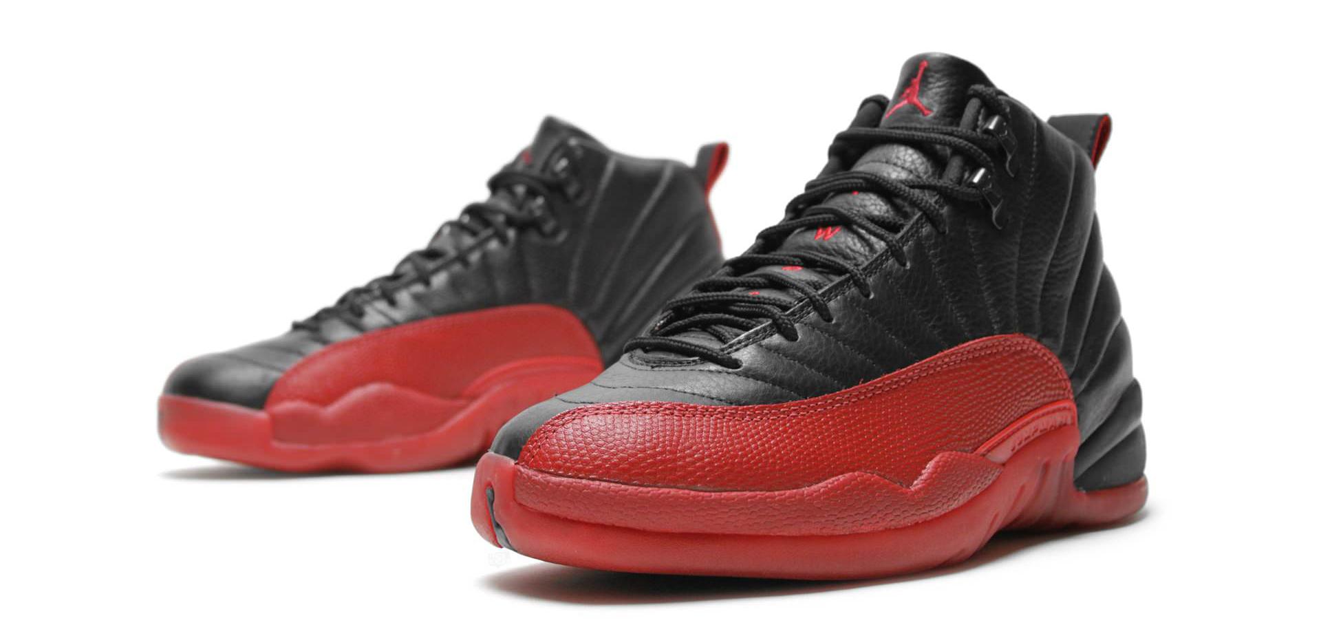 Air Jordan 12+13 Womens Red Black White shoes