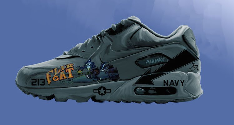 """Check out PEL's Commemorative """"We Were There"""" Nike Air Max 90 Illustrations"""