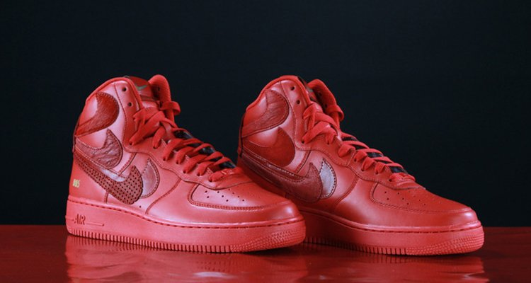 d04bec0bab John Geiger Releases Red John Geiger Drops Nike Air Force 1 High Misplaced  Checks ...