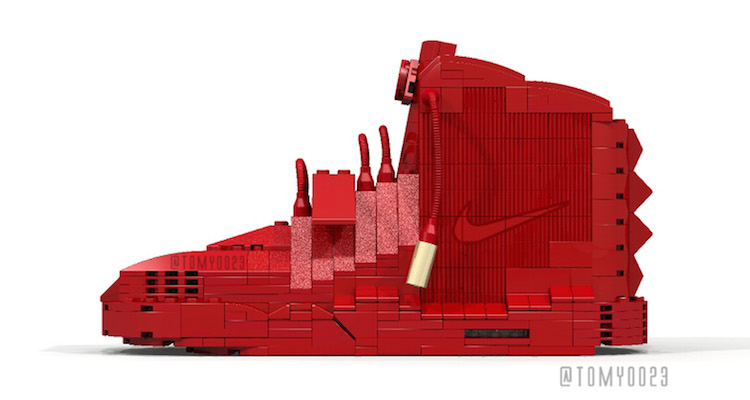 "Tom Yoo LEGO Nike Air Yeezy 2 ""Red October"""